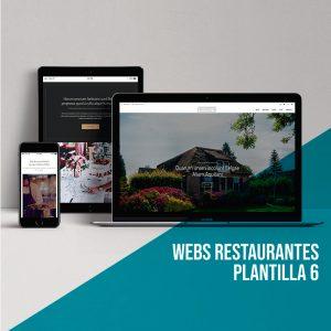 Diseño web página restaurante: Plantilla 6.
