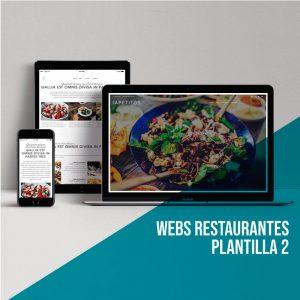 Página web para restaurantes: Plantilla 2.