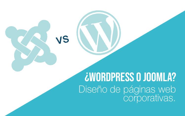 Diseño web Wordpress y diseño web Joomla