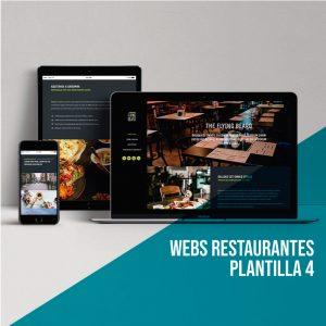 Diseño página web restaurante: Plantilla 4.