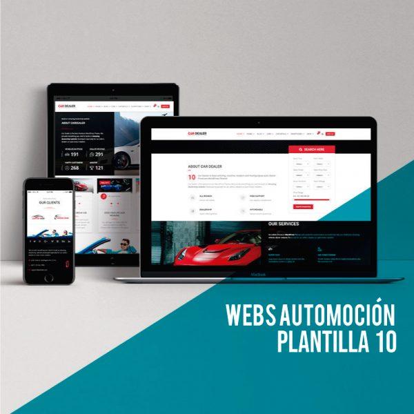Webs para concesionarios: Diseño web para talleres de coches.