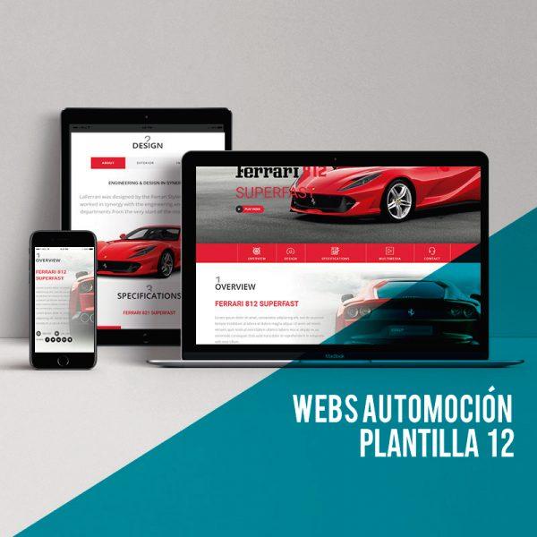 Diseño de páginas webs para el sector automoción.