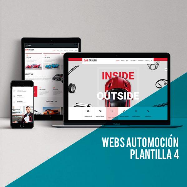 Página web para el sector automoción low cost. Mejores plantillas wordpress para crear web corporativa para talleres de coches.