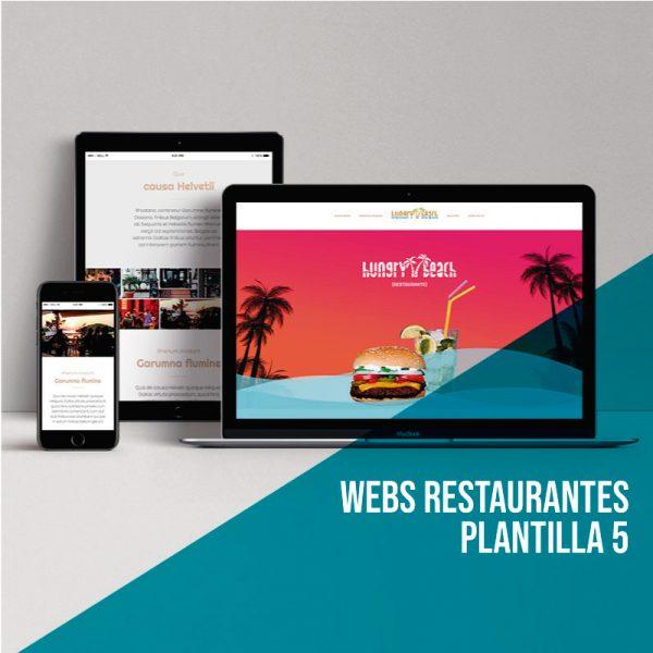Diseño web restaurantes: Plantilla 1.