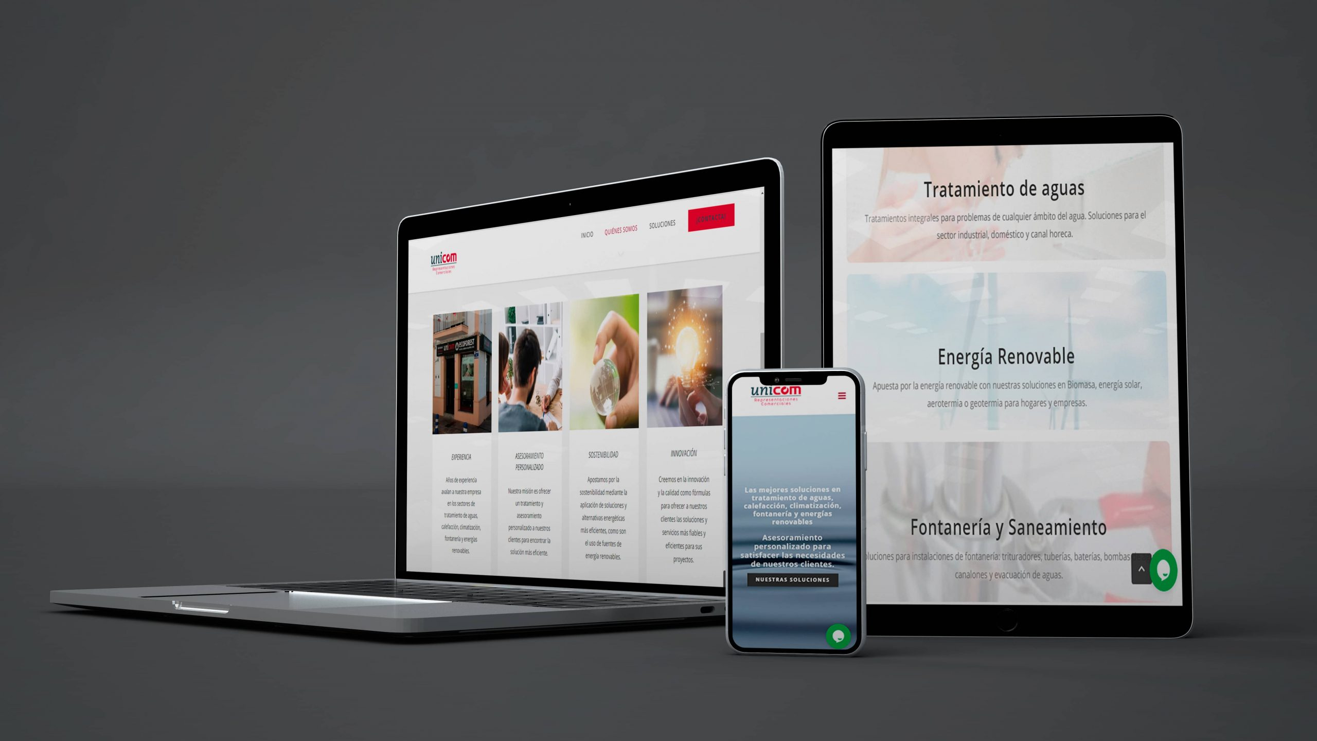 Diseño y Desarrollo web Wordpress Unicom